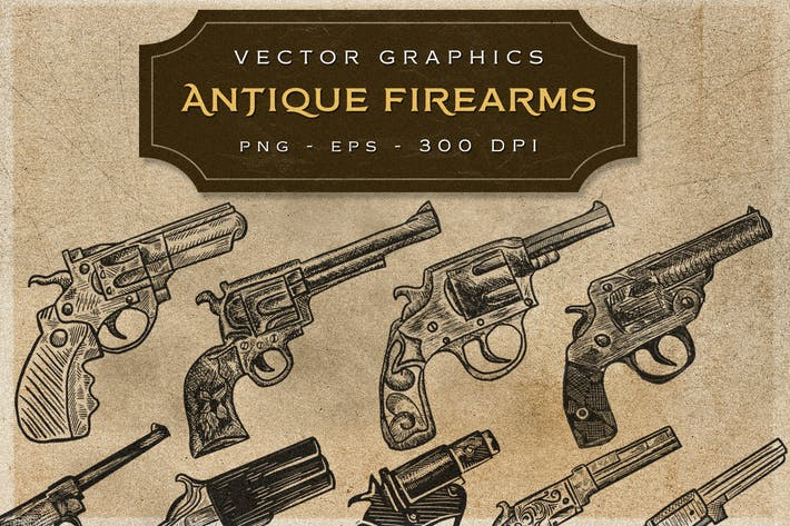 Thumbnail for ANTIQUE FIREARMS - VIntage Graphics