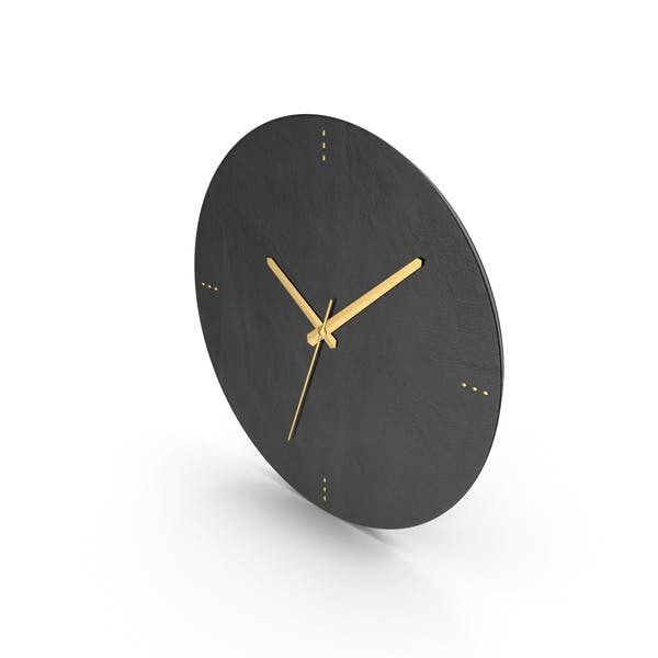 Black Leather Clock