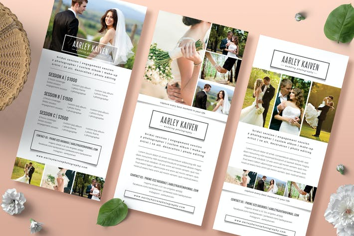 Cover Image For Simple Wedding Photography Rack Card