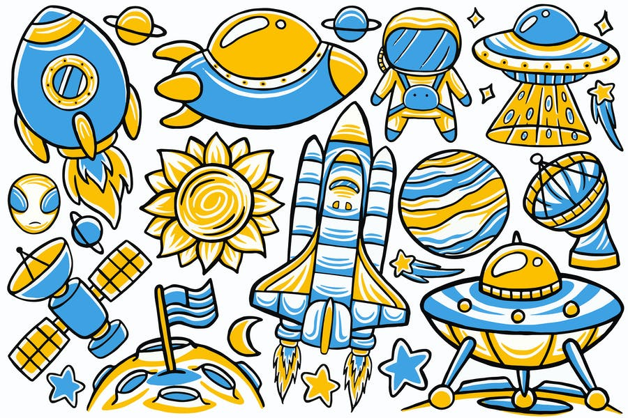 Space Doodle Vector #02