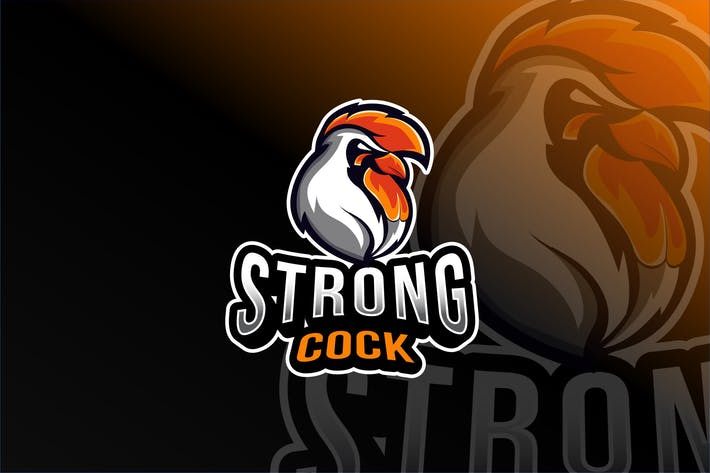 Thumbnail for Strong Cock Esport Logo Template
