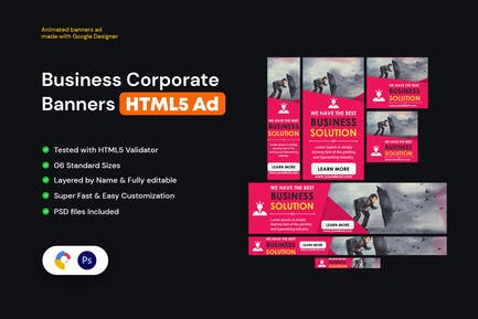 Multipurpose, Business Banners HTML5