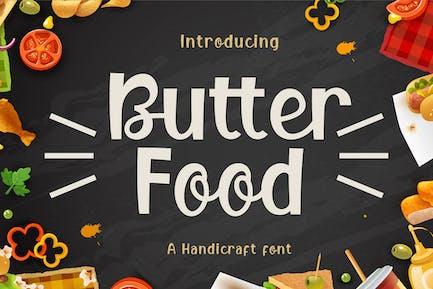 Comida de mantequilla - Fuente de visualización artesanal