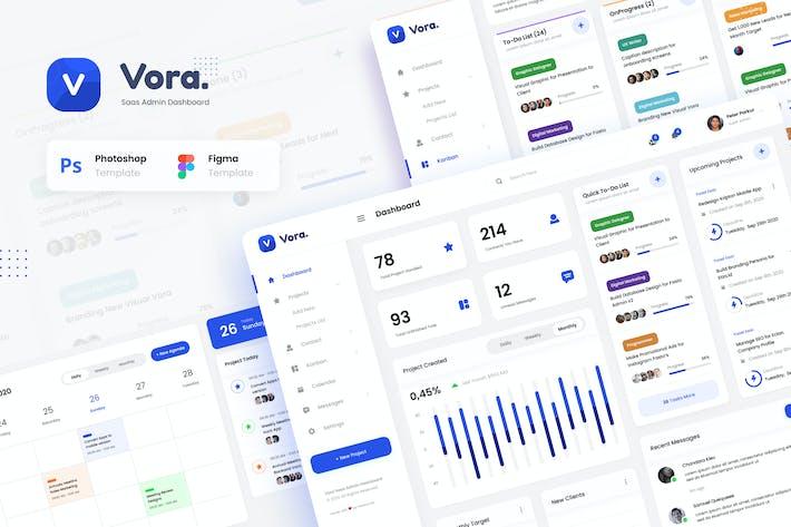 Cover Image For Vora - Saas Admin Dashboard UI Design Template