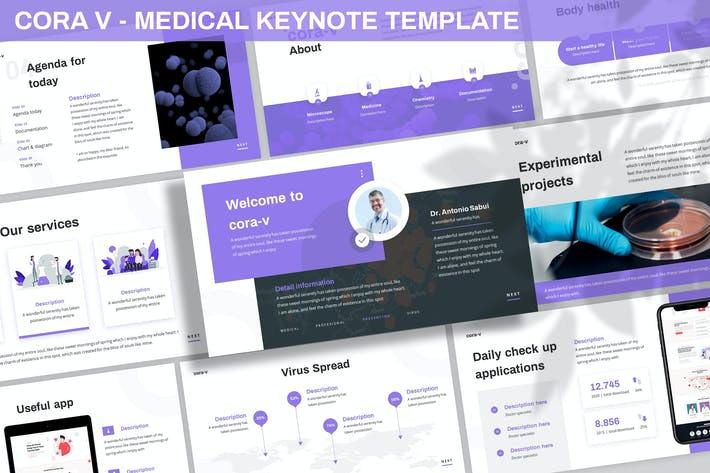 Cover Image For Cora V - Medical Keynote Template