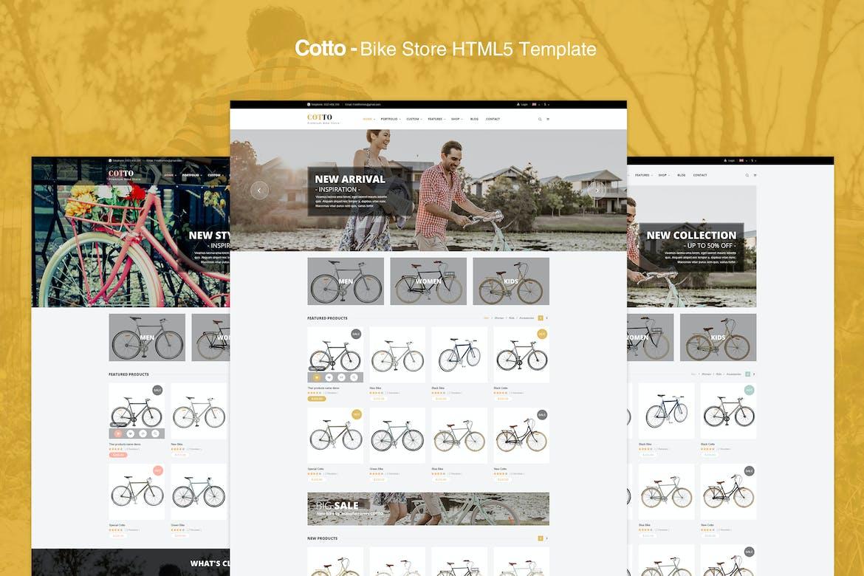 cotto bisiklet satma e-ticaret web şablonu