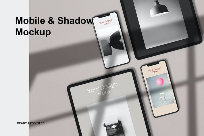 Thumbnail for Mobile & shadow Mockup