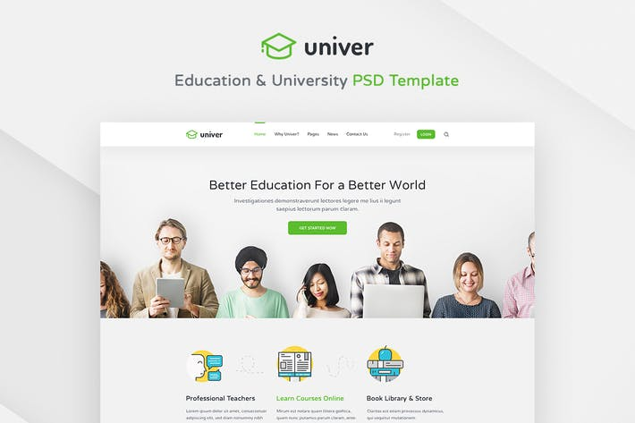 Thumbnail for Univer - Education & University PSD Template