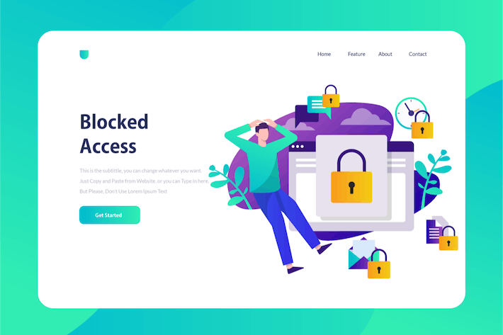 Thumbnail for Blocked Access - Onboarding Illustration