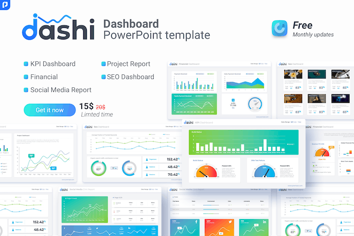 Thumbnail for dashi- dashboard PowerPoint template