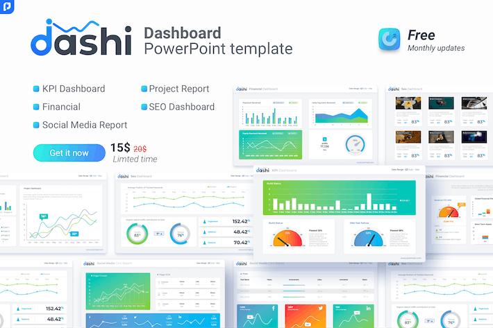 Thumbnail for Dashi- Dashboard PowerPoint Vorlage