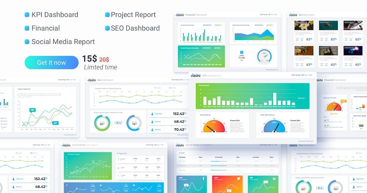 Download dashi- dashboard PowerPoint template by Premast