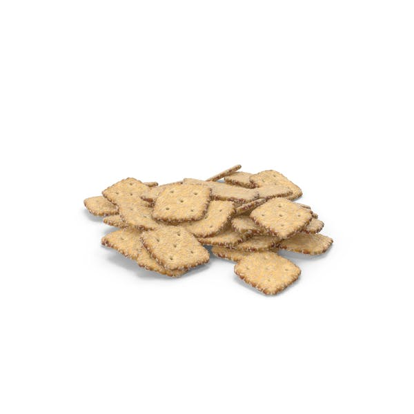 Thumbnail for Pile of Mini Rhombus Crackers with Sesame