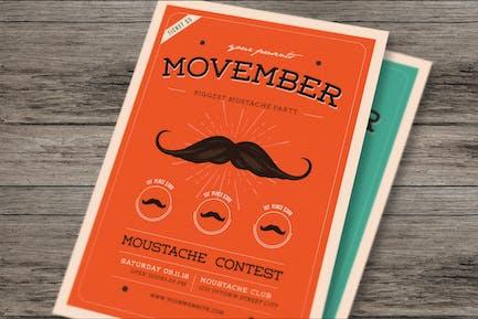dépliant d'événement Movember