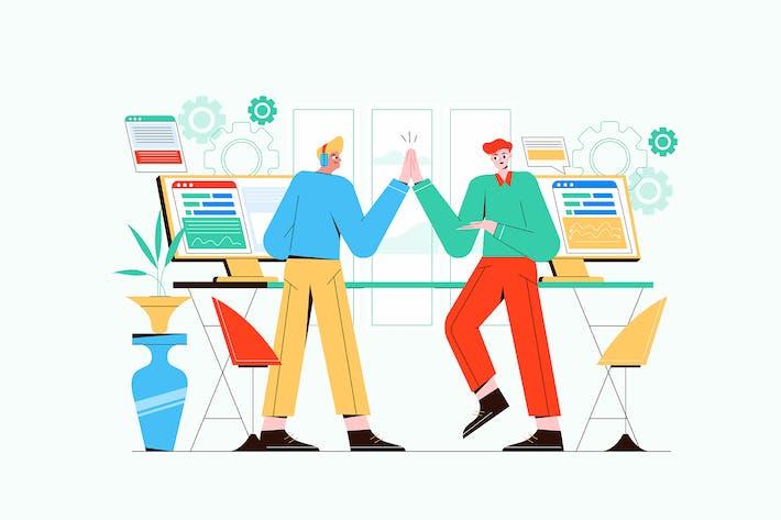 Thumbnail for Team Success Vector Illustration