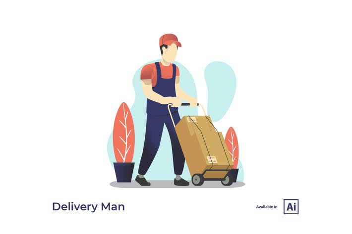 Thumbnail for Delivery Man Illustration