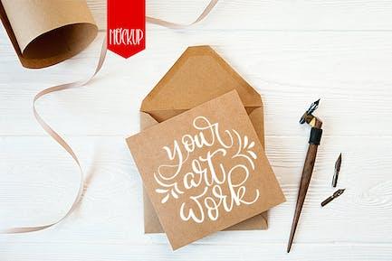 Envelope letter mock up
