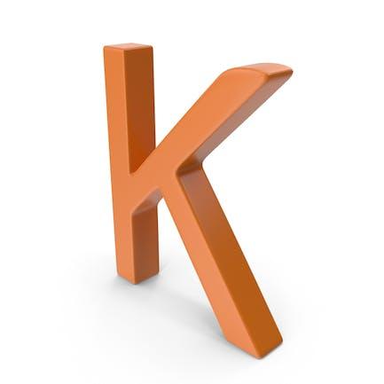 Letter K Orange
