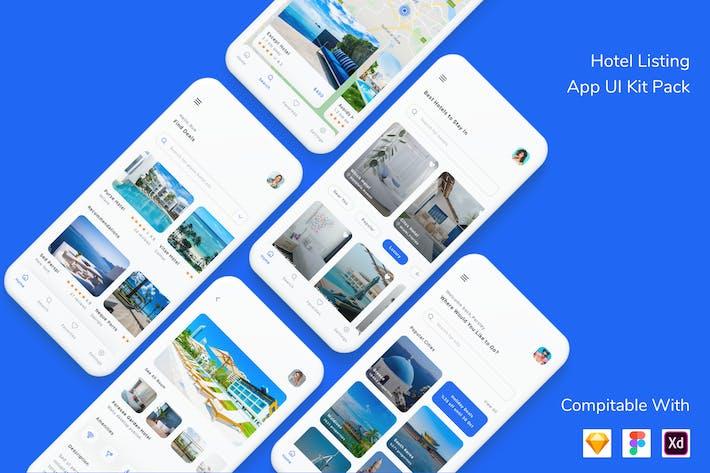 Thumbnail for Hotel Listing App UI Kit Pack
