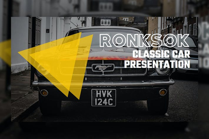 Thumbnail for RONKSOK – Classic Car PowerPoint Template