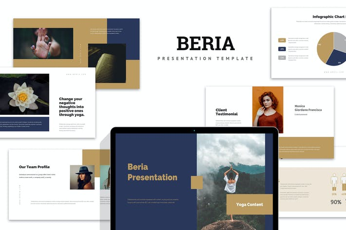 Thumbnail for Beria : Yoga Studio Google Slides