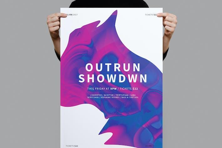 Thumbnail for Outrun Showdown Poster / Flyer