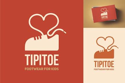Tipitoe Kids Footwear Logo Template