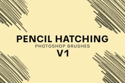 20 Pencil Hatching Photoshop Brushes V1