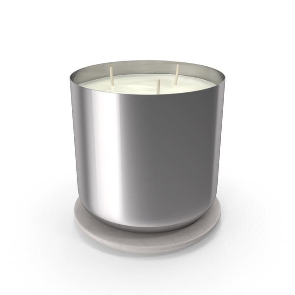 Scented Candle Big Metal Silver