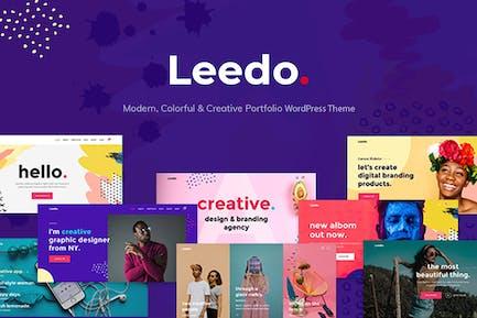 Leedo – Colorful & Creative Portfolio WP Theme