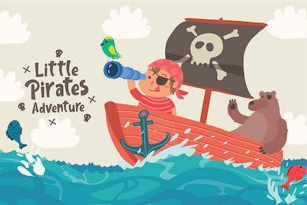 Little Pirates - Vector Illustration