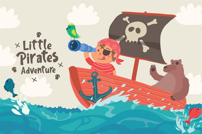 Thumbnail for Little Pirates - Vector Illustration