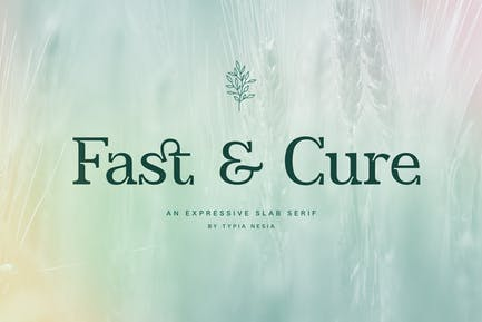 Fast and Cure - Modern Expressive Slab Serif