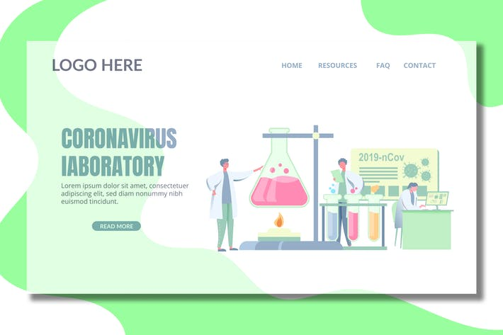 Thumbnail for Virus Lab - Landing Page