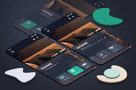 Smart Home Dashboard Mobile UI - FD