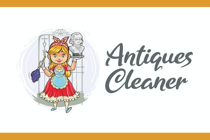 Thumbnail for Logo Mascotte Nettoyant Antiquités et Restauration