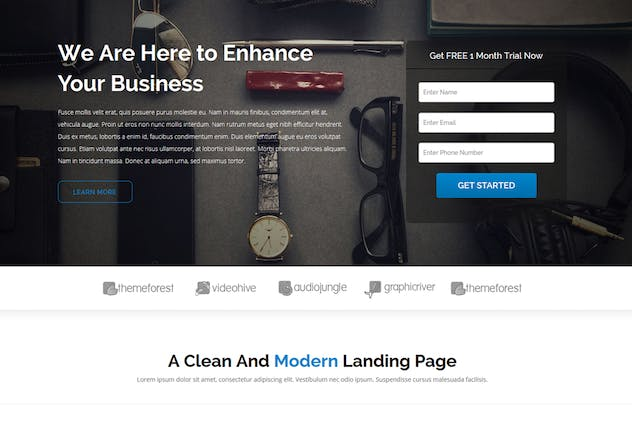 Jean - Landing Page Template - product preview 3