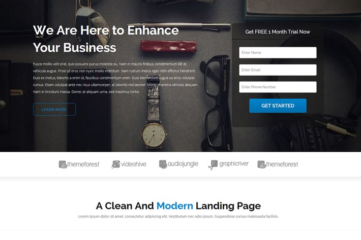 Thumbnail for Jean - Landing Page Template