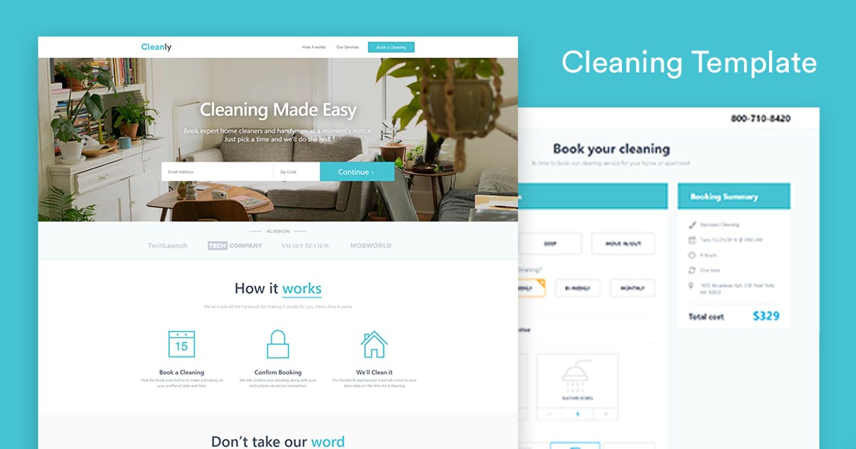 Download Cleaning Landing Page Template — Cleanly by surjithctly