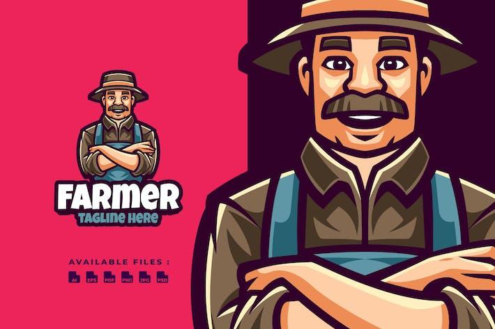 Thumbnail for Логотип персонажа фермера