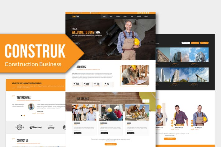 Thumbnail for Construk - Construction Business Muse Template