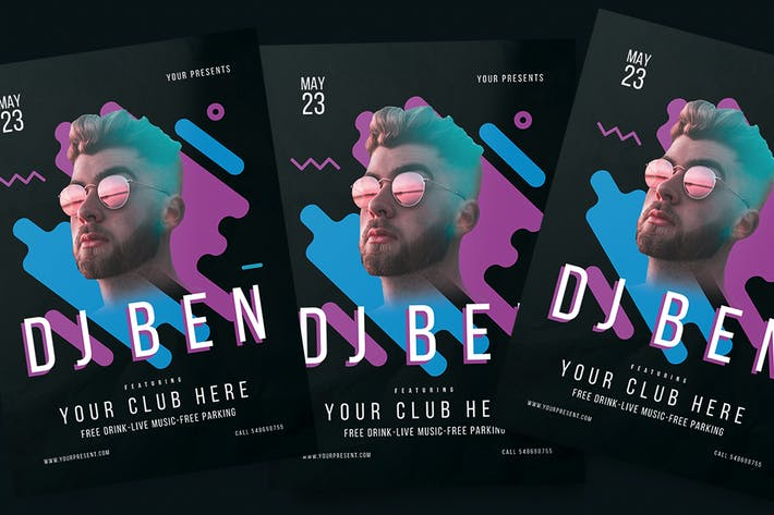 Cover Image For Dj Night Flyer