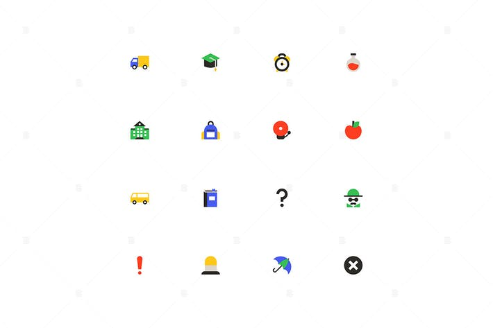 Thumbnail for Education and protection - material design icons