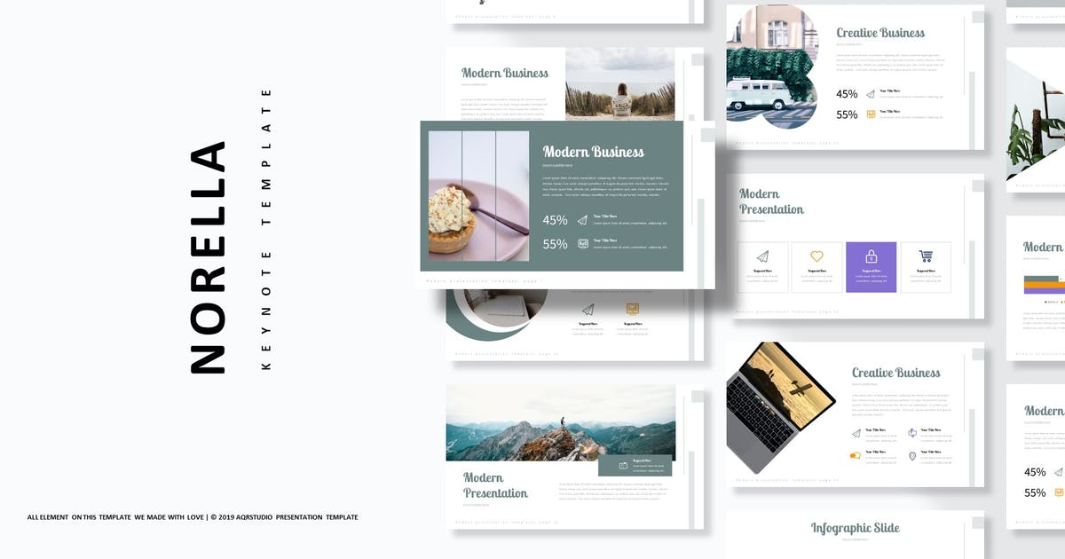 Download Norella - Keynote Template by aqrstudio