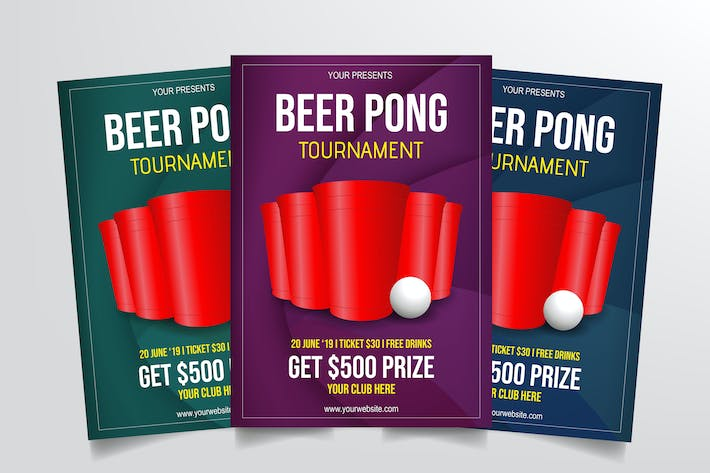Thumbnail for Beer Pong Tournament Flyer Template