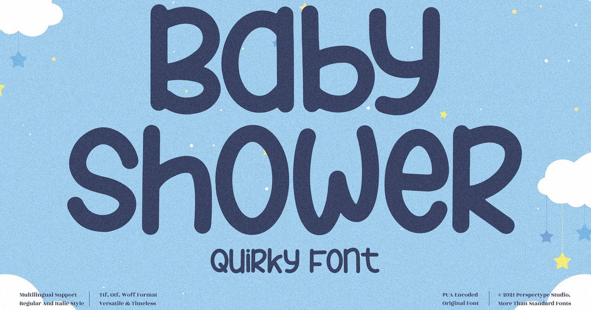 Download Baby Shower Quirky Font LS by GranzCreative