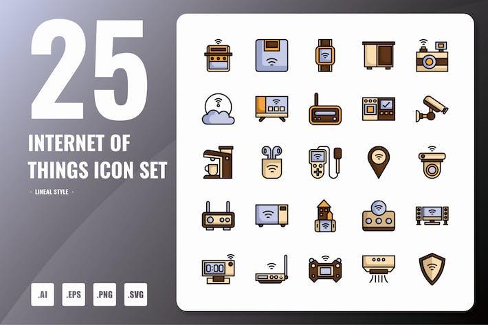 Thumbnail for Internet der Dinge Lineale Icons
