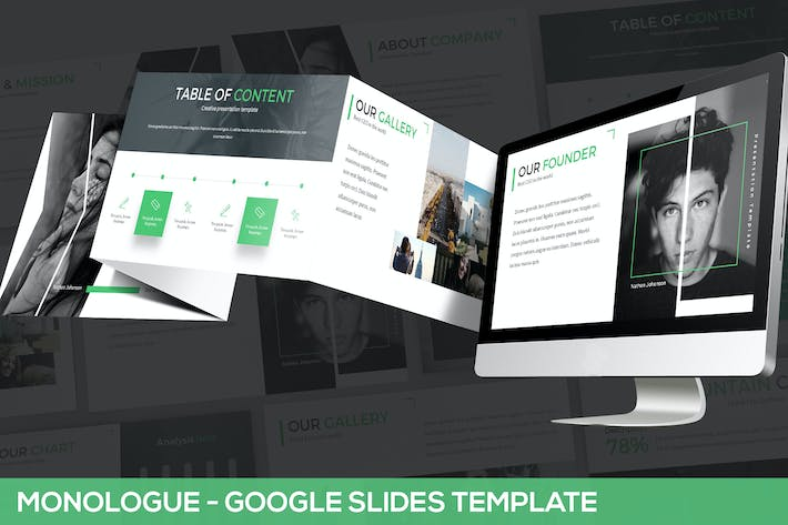 Thumbnail for Monologue - Google Slides Presentation Template