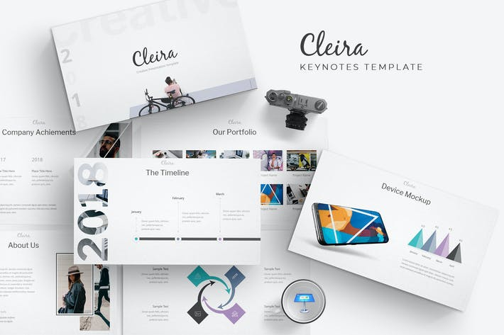Thumbnail for Cleira - Keynote Templates