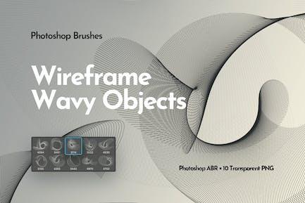Каркас Волнистые объекты Photoshop Кисти